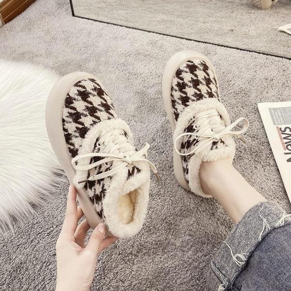 毛毛拖鞋女外穿歐洲站懶人一腳蹬毛毛鞋2020新款包頭半拖鞋女棉拖 後街五號