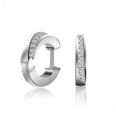耳環 925純銀鑲鑽銀飾-復古C字生日情人節禮物女飾品73dy67【時尚巴黎】