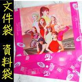 TWICE 文件夾 PVC文件袋 L夾 A4文件套E864-5【玩之內】韓國子瑜SANA MINA 林娜蓮