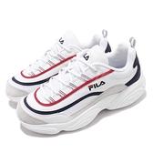 Fila 休閒鞋 Ray Run 白 紅 藍 男鞋 女鞋 老爹鞋 復古 厚底 增高 【ACS】 4C104T132