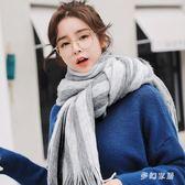 圍巾女加厚保暖秋冬季長款百搭純色仿羊絨學生圍脖sd3917『夢幻家居』
