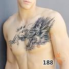 【買1送10】紋身貼防水男持久花臂暗黑系不永久過肩龍仿真刺青貼紙【橘社小鎮】