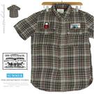 【大盤大】LEVI STRAUSS 女 格紋 純棉 短袖 M號 格紋 襯衫 Shirt 格子 休閒 蘇格蘭 百貨精品