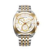 【BENTLEY】賓利 Solstice系列 黑暗紳士計時手錶 (白面/金銀鋼帶 BL1681-70777)