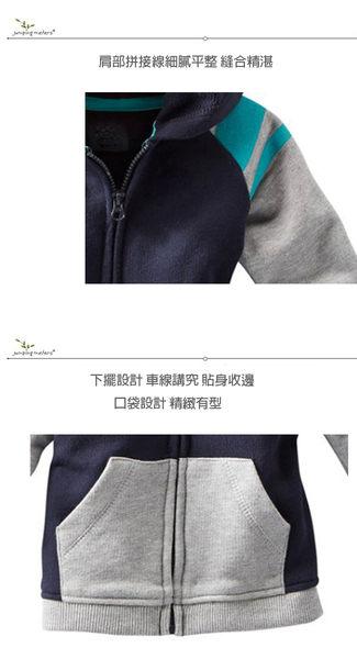 秋冬新品男童外出長袖連帽兒童保暖外套-條紋系