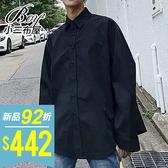 長袖襯衫 素面特殊飛鼠袖純色襯衫【NQ970011】