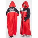 【東門城】Arai 佐海 W022 雙色全開式雨衣 (黑紅)