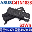 華碩 ASUS C41N1838 4芯 . 電池 電壓:15.32V 容量:4165mAh / 63Wh