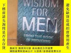 二手書博民逛書店英語原版罕見Andrew Rashford-Hewitt WISDOM FOR MEN 安得烈·拉希福德·休伊特