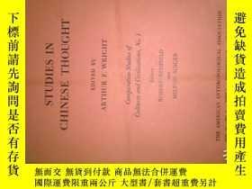 二手書博民逛書店Studies罕見in Chinese Thought (芮沃壽