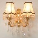 超實惠 壁燈 歐式客廳臥室床頭燈 現代簡約創意水晶壁燈 新品特價