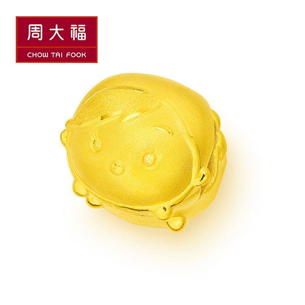 冰雪奇緣安娜黃金路路通串飾/串珠 周大福 TSUM TSUM系列