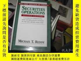 二手書博民逛書店英文原版精裝罕見Securities operations--n