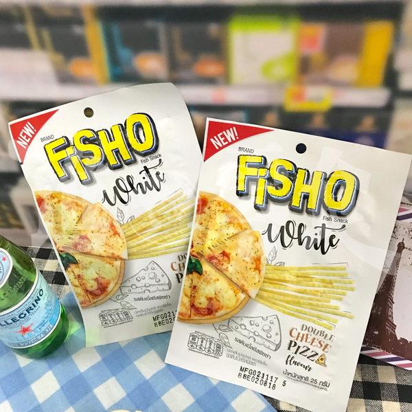 魚絲的上面和下面都裹著濃濃的披薩起司粉!【FISHO】雙重起司魚香絲