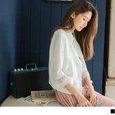 《AB2491》素色質感蕾絲領拼接透膚荷葉袖造型上衣.2色 OrangeBear