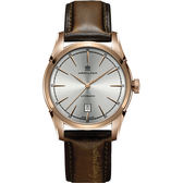 Hamilton 漢米爾頓 AMERICAN CLASSIC自由精神機械腕錶-銀x玫瑰金框/42mm H42445551
