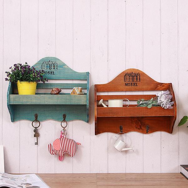 可愛美式鄉村壁掛2 玄關壁飾鑰匙收納架置物架