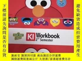 二手書博民逛書店芝麻街英語罕見K1 workbook 1st semester+workbook 2nd semester (2本