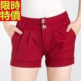 西裝短褲氣質必敗-休閒多皺褶別緻女褲子5色66ai6【巴黎精品】