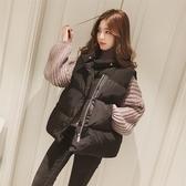 寬松羽絨棉馬甲女冬短款韓版背心中長款外套