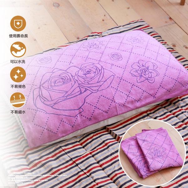 典雅壓花枕巾(多款造型)  50x70-紫色系列