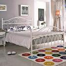 法式 床架 床檯 鐵床 潔絲米純白5尺雙人床/白色 ﹝18CS3/79-1﹞/ H&D東稻家居