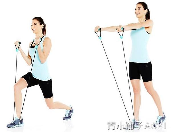 健身一字拉力繩彈力繩膠管多功能拉力器青木鋪子
