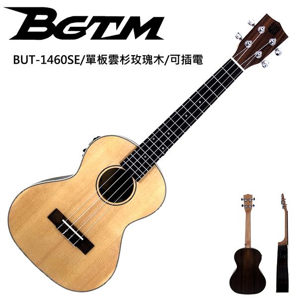 ★BGTM★嚴選單板BUT-1460SE雲杉玫瑰木26吋電烏克麗麗~內建調音器!