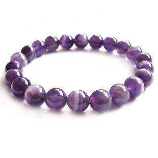 紫水晶手鏈 時尚超美女款10MM