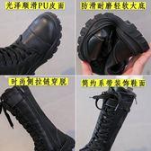 高筒靴 女童靴子2018新款兒童鞋秋冬季高筒靴雪地靴長靴女大童長筒棉加絨