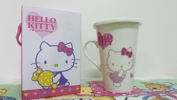 Hello Kitty高雅馬克杯附蓋510ML【合迷雅好物超級商城】