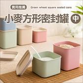 ✭慢思行✭【G030】環保小麥方形密封罐(中) 食品 零食 雜糧 廚房 保鮮 收納 儲物 防潮 900ML