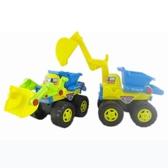 建雄 兒童沙灘玩具 寶寶玩挖堆沙玩具工具 沙灘慣性工程車   圖拉斯3C百貨