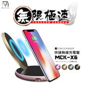MCK-X6 快速無線充電盤 QC 3.0 閃充 快速充電 無線充電板 無線充電座 無線充電器 充電線 傳輸線