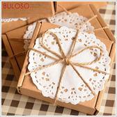 《不囉唆》大蕾絲牛皮紙色禮盒/禮物盒(小) (不挑色/款)【A289115】