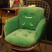 坐墊靠墊壹體久坐椅屁股椅墊厚墊子靠背座墊【聚可愛】