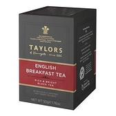 英國Taylors泰勒茶 -英式早安茶 ENGLISH BREAKFAST TEA 2.5g*20入/盒-【良鎂】