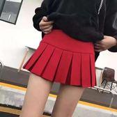 春裝女韓製高腰百摺裙
