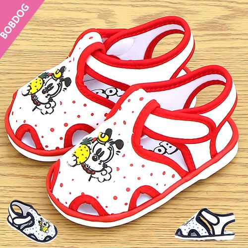 女童 Bobdog 巴布豆 夏日鳳梨與巴布豆狗狗 涼鞋 學步鞋 寶寶鞋 嬰兒鞋 MIT製造 59鞋廊