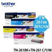 BROTHER 原廠四色碳粉組 TN-261黑+TN-261彩 (適用HL-3170 , MFC-9330) TN 261