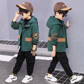 童裝男童春秋冬裝加厚外套夾克兒童中大童小孩上衣風衣潮 巴黎時尚
