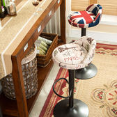 歐式鐵藝吧台椅升降椅子吧椅吧凳美式簡約高腳吧台凳酒吧椅前台xw 一件免運