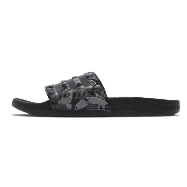 adidas 拖鞋 Adilette Comfort 黑 灰 迷彩 運動拖鞋 男鞋 愛迪達 三線【ACS】 FZ1755