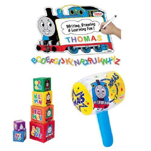 【奇買親子購物網】 湯瑪士 吸磁劃板+疊疊塔+充氣槌聖誕節特賣