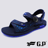 【G.P】男 透氣舒適休閒兩用涼拖鞋『藍』G8660M-20 健行.涼鞋.自行車.溯溪.健走.海邊.沙灘鞋.戶外