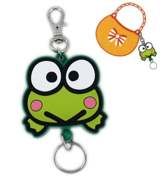 【卡漫城】 大眼蛙 易拉扣 大臉 ㊣版 萬用 伸縮 悠遊卡 卡片 證件 鑰匙圈 吊飾 可洛比 Keroppi 青蛙