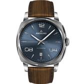 Anonimo EPURATO義式經典機械腕錶-陽光藍/42mm