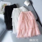 女童半身裙 夏季女童半身裙洋氣新款蛋糕公主裙中大兒童女孩仙氣網紗裙子 韓菲兒