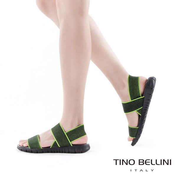 Tino Bellini 義大利進口炫彩螢光繃帶休閒平底涼鞋(螢光粉)_A63078  2016SS歐洲進口款