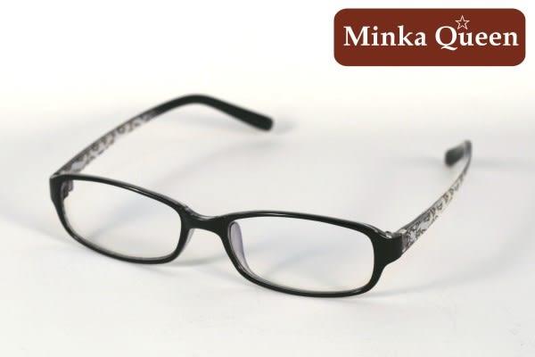 Minka Queen 黑色膠框(濾藍光鏡片 抗UV400)潮流必備個性百搭流行配光眼鏡